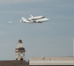Discovery and chase plane over the Clocktower