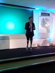 Hugh Herr demos his robotic legs, Economist Te...