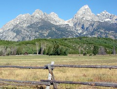 Grand Tetons Ranch From Park Road (2) 9-2011