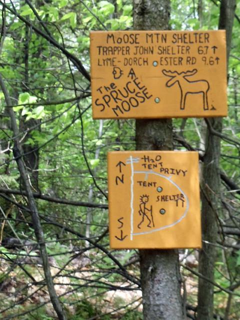 Moose Mountain Shelter Sign