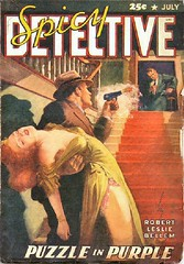 105a Spicy Detective Stories Jul-1942 Includes Counterfeit Murder by E. Hoffmann Price