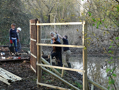 "Another view of the bird hide under construction • <a style=""font-size:0.8em;"" href=""http://www.flickr.com/photos/60890513@N06/6884396122/"" target=""_blank"">View on Flickr</a>"
