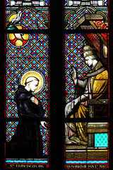 St Francis and Pope Honorius III