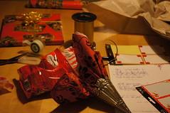 Preparing christmas gifts