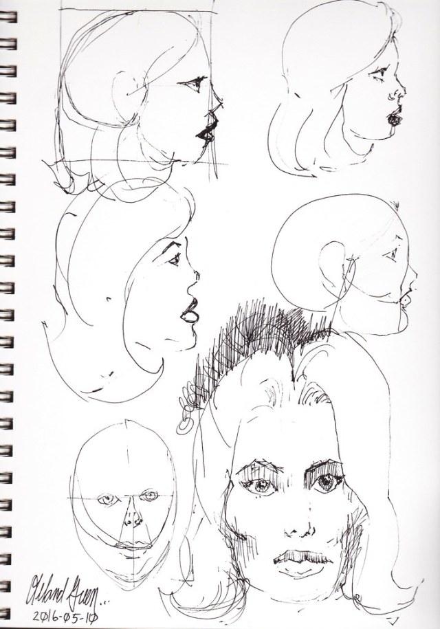 Female face Studies