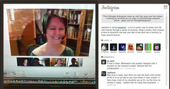 Instagram Google+ Hangouts Screen shot