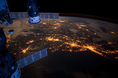 Atlantic Coast at Night (NASA, International S...