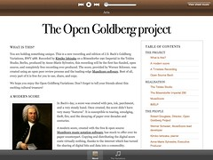 Open Goldberg Variations on iPad