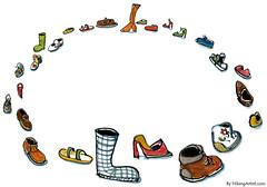 Shoes walking in circles