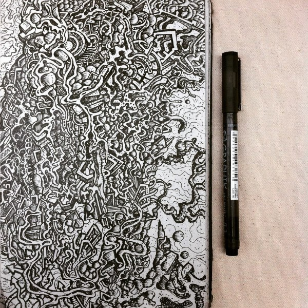 World' Of Art And Zentangles - Hive Mind