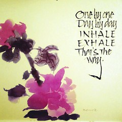 my motto this month #breathe #pink #odat