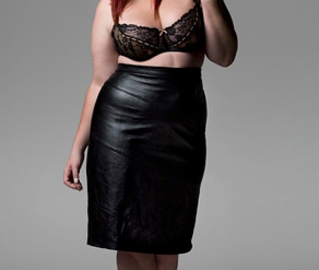 Bbw In Leather Skirt