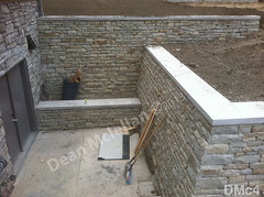 WM Dean Mclellan 4, Retaining wall, structure, dry laid stone construction, copyright 2014