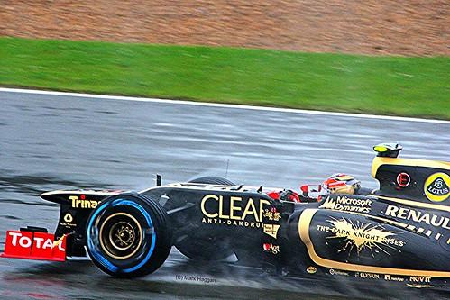 Romain Grosjean's Lotus at Silverstone