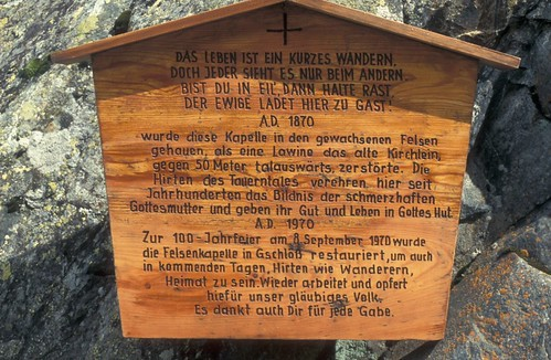 Felsenkapelle Gschlöss