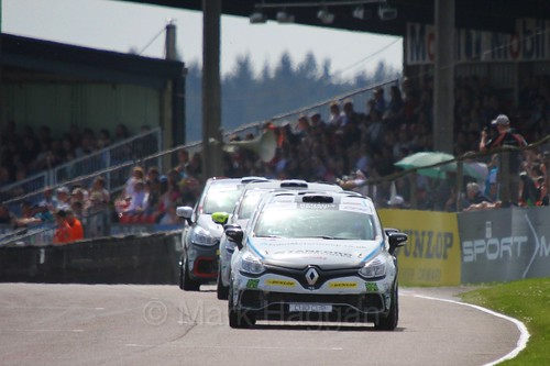 The Clio Cup during the BTCC Weekend at Thruxton, May 2016