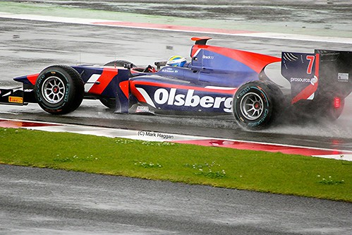Marcus Ericsson in his iSport GP2 Car at Silverstone