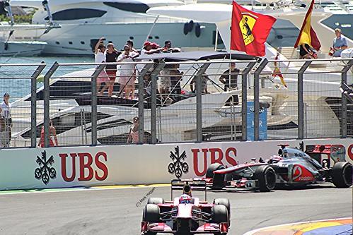 Jenson Button after the 2012 European Grand Prix in Valencia
