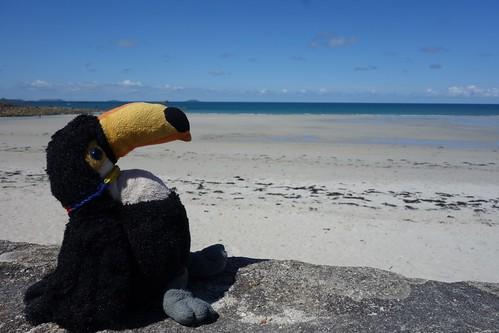 Petite pause sur la plage de Lestrel