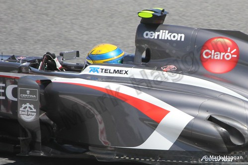 Esteban Gutierrez in Free Practice 2 at the 2013 Spanish Grand Prix