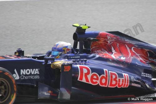 Daniel Ricciardo in Free Practice 3 for the 2013 Spanish Grand Prix