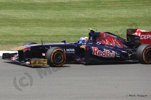 Daniel Ricciardo in qualifying for the 2013 British Grand Prix