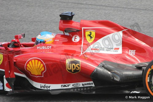 Fernando Alonso in Free Practice 2 at the 2013 Spanish Grand Prix
