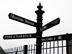 "Irvine Harbourside Signpost (2003) • <a style=""font-size:0.8em;"" href=""http://www.flickr.com/photos/36664261@N05/16454992609/"" target=""_blank"">View on Flickr</a>"