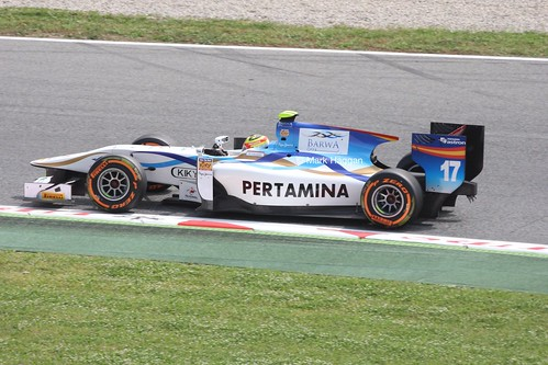 Rio Haryanto in GP2 at the 2013 Spanish Grand Prix