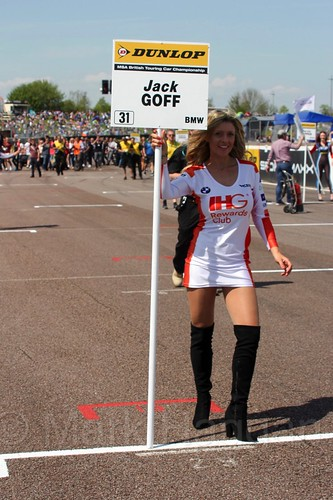 Jack Goff's grid board during the BTCC Weekend at Thruxton, May 2016