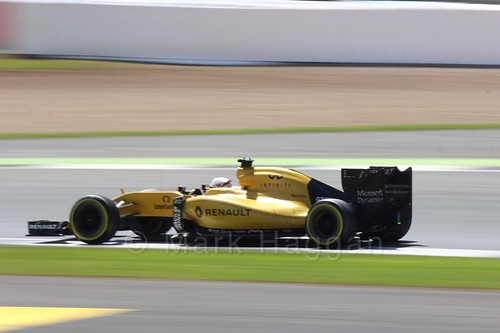 Kevin Magnussen in his Renault in the 2016 British Grand Prix