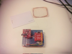 EMG sensor and RFID on shield