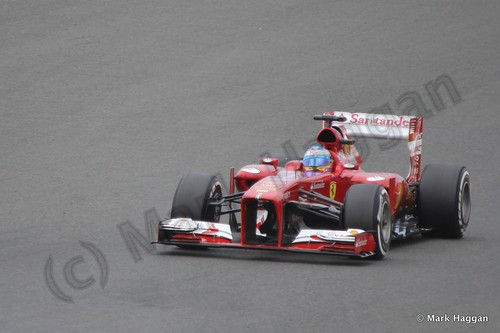Fernando Alonso in Qualifying for the 2013 British Grand Prix