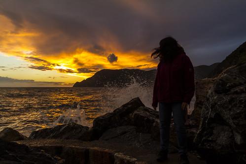 Sonnenuntergang in Vernazza