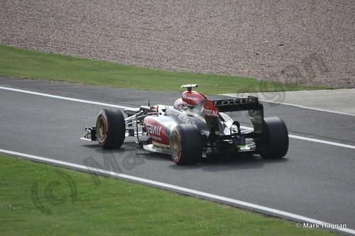 Romain Grosjean in Free Practice 3 at the 2013 British Grand Prix
