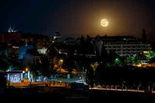 Salida de la luna llena en Úbeda