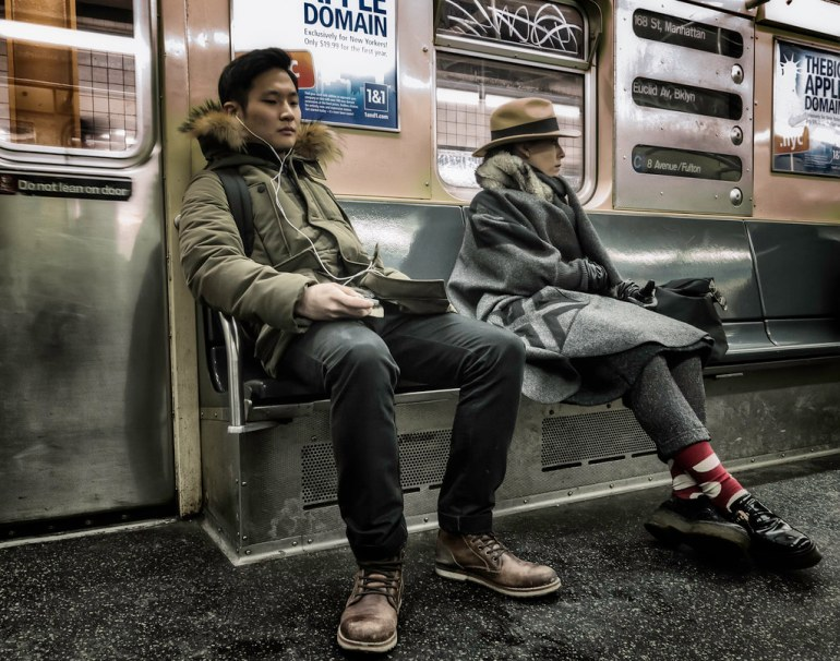 Strangers On The C Train by James Loesch, on Flickr