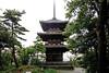 Photo:Japanese-Style Three-Story Pagoda on The Rainy Day By