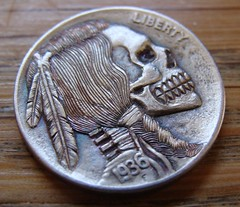 """'Stop All Terror' Hobo nickel • <a style=""""font-size:0.8em;"""" href=""""http://www.flickr.com/photos/72528309@N05/26740095612/"""" target=""""_blank"""">View on Flickr</a>"""