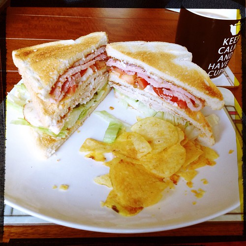 Today is all about...retro club sandwiches