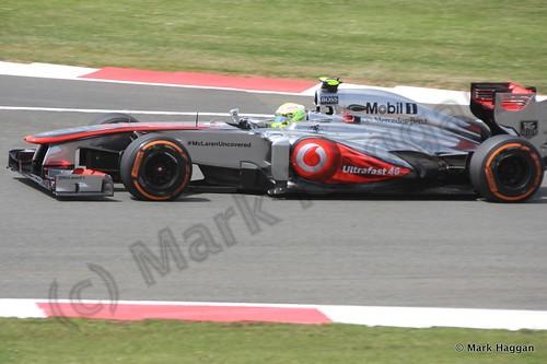 Sergio Perez in qualifying for the 2013 British Grand Prix
