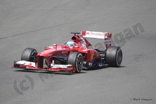 Fernando Alonso in the 2013 British Grand Prix