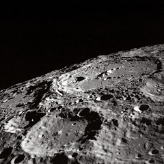 Terraced Wall Crater on the Lunar Limb by NASA on The Commons, on Flickr