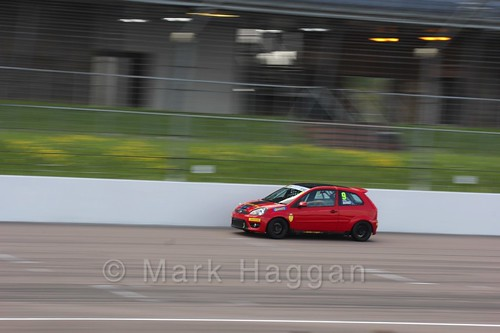 Bradley Burns in Fiesta Junior Championship at the BRSCC Weekend at Rockingham, May 2016