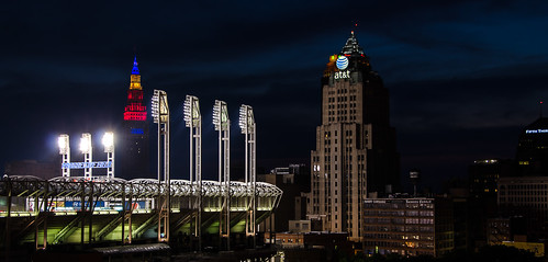 Nighttime in Cleveland