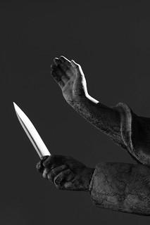 Schwert und Hand