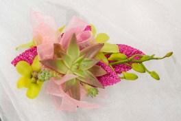 Succulent Garden Corsage - Emily Gorg and Ardith Beveridge, AAF, AIFD, PFCI, CAFA