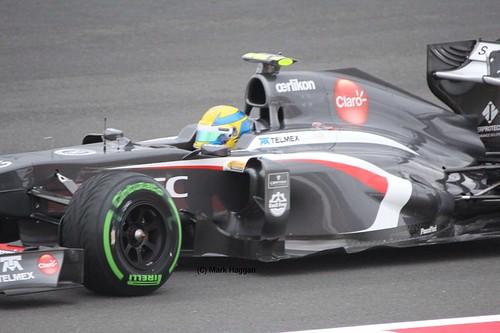 Esteban Gutierrez in Free Practice 2 at the 2013 British Grand Prix