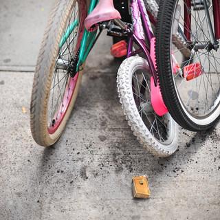 kid wheels, sidewalk