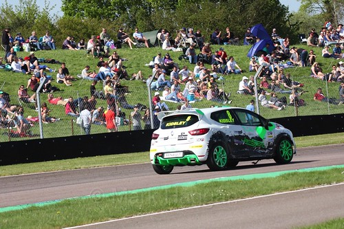 Luke Kidsely in the Clio Cup during the BTCC Weekend at Thruxton, May 2016